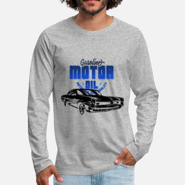Sport Automobile Patch Muscle Car - T-shirt manches longues Premium Homme