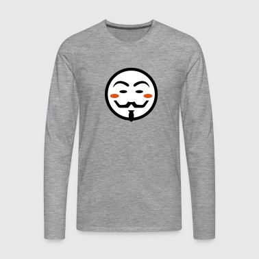 Anonymous Vendetta Mask - Men's Premium Longsleeve Shirt