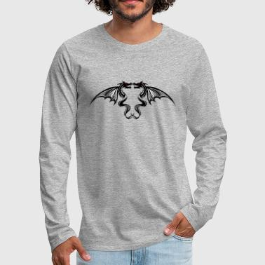 Tribal Dragon dragon tribal tattoo tattoo 5042 w - Men's Premium Longsleeve Shirt