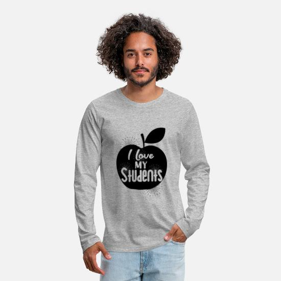Gift Idea Long sleeve shirts - Teacher teacher teacher teacher - Men's Premium Longsleeve Shirt heather grey