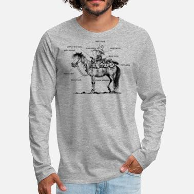 Western Thelwell 'Learning Western riding' - Mannen premium longsleeve