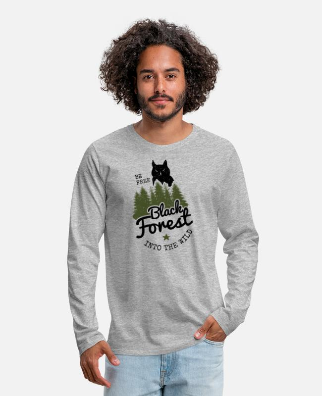 Specialty Long-Sleeved Shirts - Into the wild - Men's Premium Longsleeve Shirt heather grey