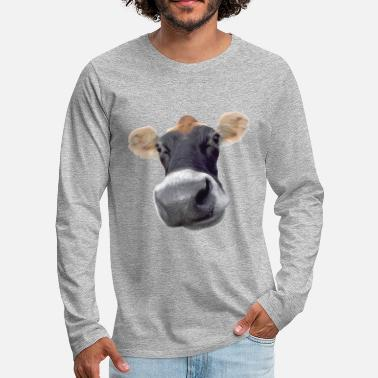 Dairy Cow Moo Cow dairy cow - Men's Premium Longsleeve Shirt