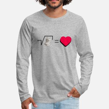 Pull The Root Biscuits Cats Mathematical Hearts Love Love - Men's Premium Longsleeve Shirt