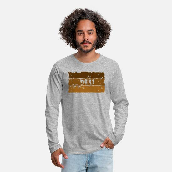 Federal Republic Of Germany Long Sleeve Shirts - Germany, DEU, sand colors - Men's Premium Longsleeve Shirt heather grey