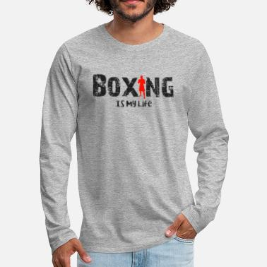 Challenge Accepted Boxing is my life - Men's Premium Longsleeve Shirt