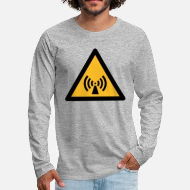 Hazard Symbol - Non-Ionizing Radiation (2-color) - Men's Premium Longsleeve Shirt