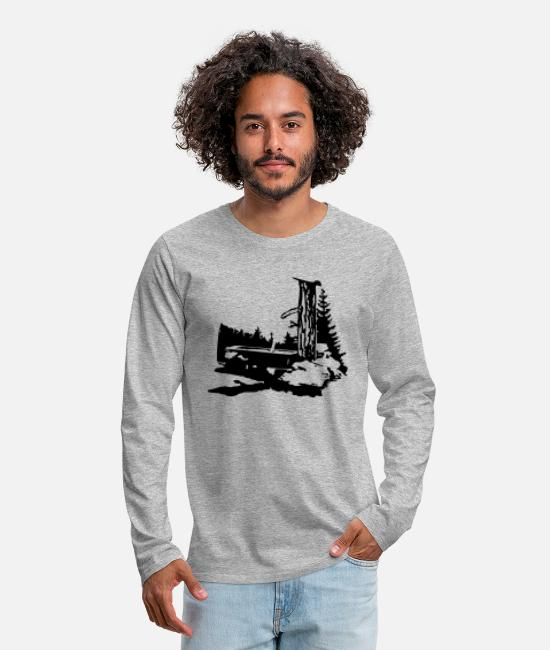 Mountains Long-Sleeved Shirts - drinking trough - Men's Premium Longsleeve Shirt heather grey