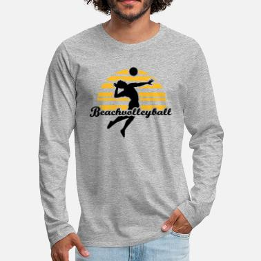 Beachvolleyball Beachvolleyball - Mannen premium longsleeve