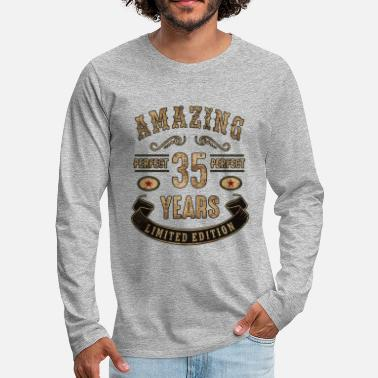 Limited Edition Amazing perfect since 35 years - limited edition - Männer Premium Langarmshirt