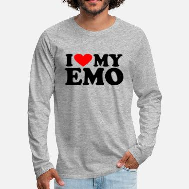 Retro Underwear I love my Emo - Men's Premium Longsleeve Shirt
