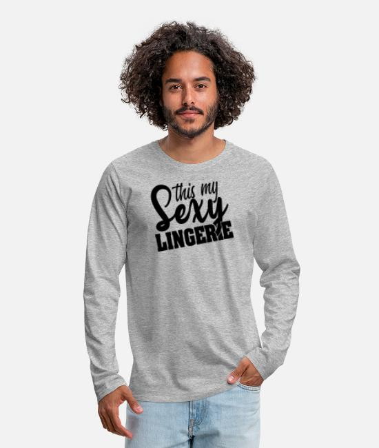 Meme Long-Sleeved Shirts - Sexy Underwear Halloween Ears Costume Gifts - Men's Premium Longsleeve Shirt heather grey