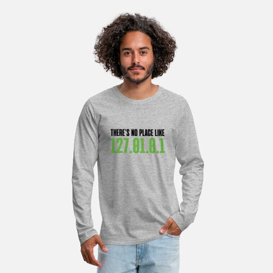 Christmas Long sleeve shirts - There`s no place like home programmer gift - Men's Premium Longsleeve Shirt heather grey