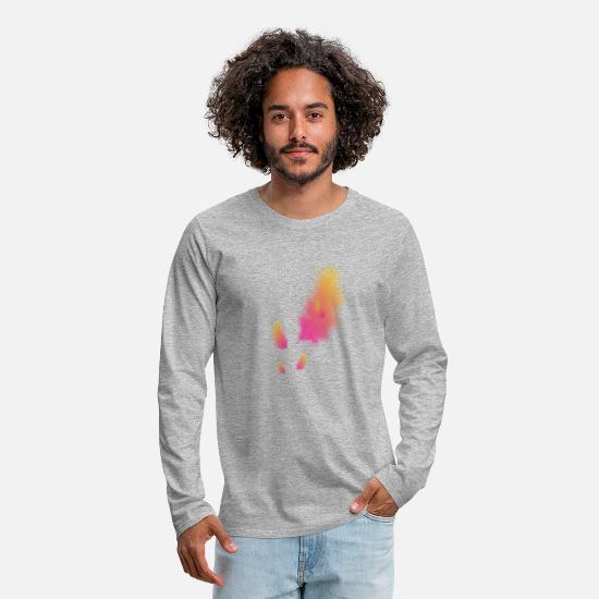 Feather Long sleeve shirts - feather - Men's Premium Longsleeve Shirt heather grey