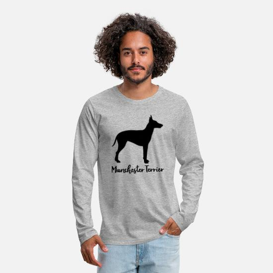 Puppy Long sleeve shirts - Manchester Terrier - Men's Premium Longsleeve Shirt heather grey