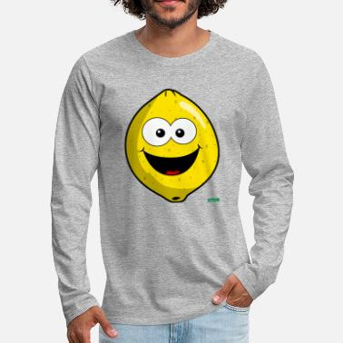 Kers Lemon Laughing HARIZ Fruit Kids Sweet - Mannen premium longsleeve