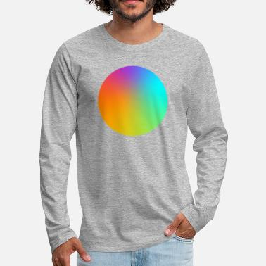Multi Coloured Gradient Circle Multi-Coloured - Men's Premium Longsleeve Shirt