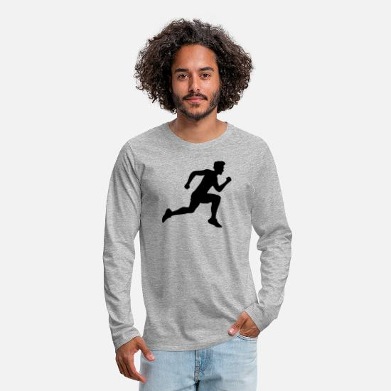 Running Long sleeve shirts - sport race sprinting fast endurance training joggi - Men's Premium Longsleeve Shirt heather grey