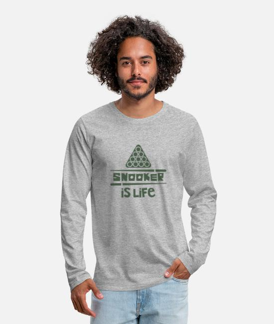 Cue Sports Long-Sleeved Shirts - snooker - Men's Premium Longsleeve Shirt heather grey