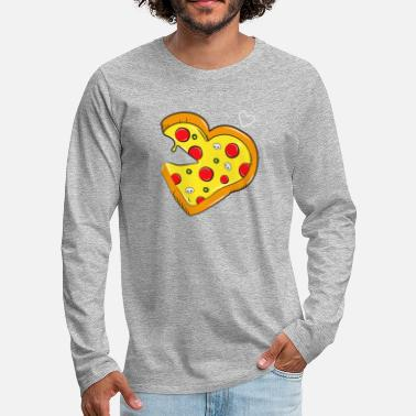 Partner Cardio pizza Fast Food - salami partner shirt - Men's Premium Longsleeve Shirt
