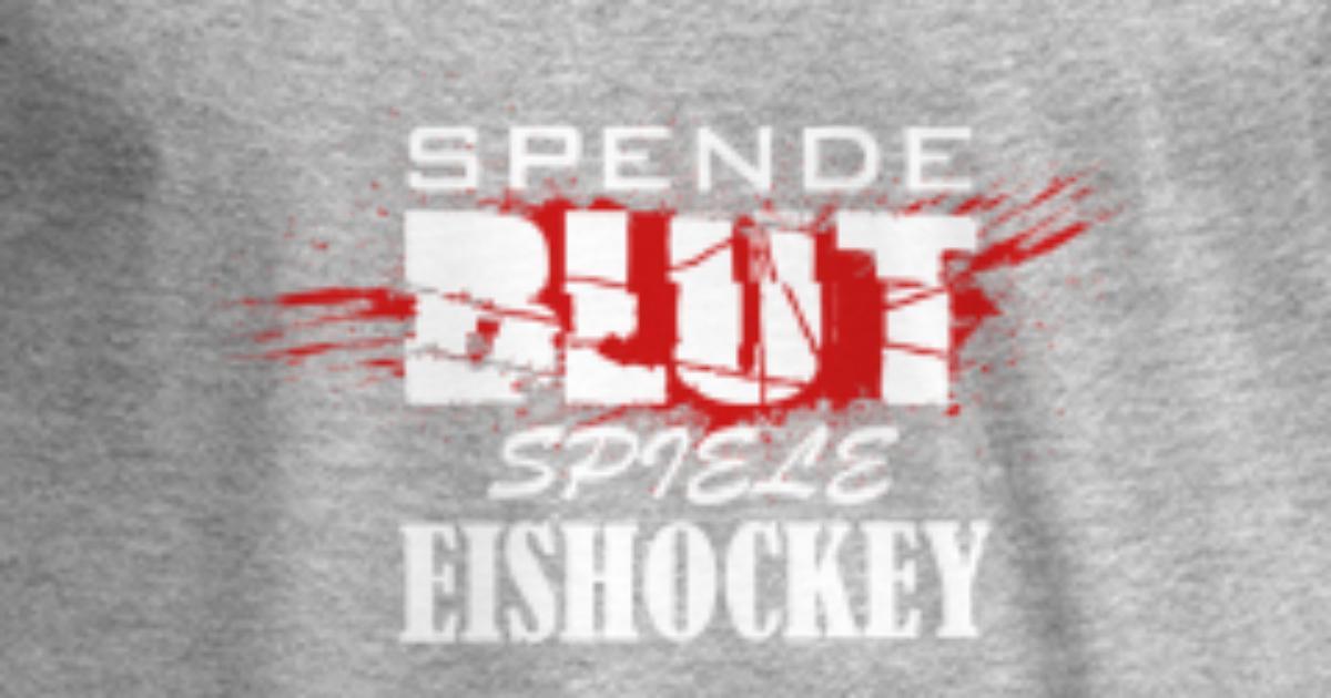 Spende Blut Spiele Eishockey Brutal Hart Männer Premium Langarmshirt Spreadshirt