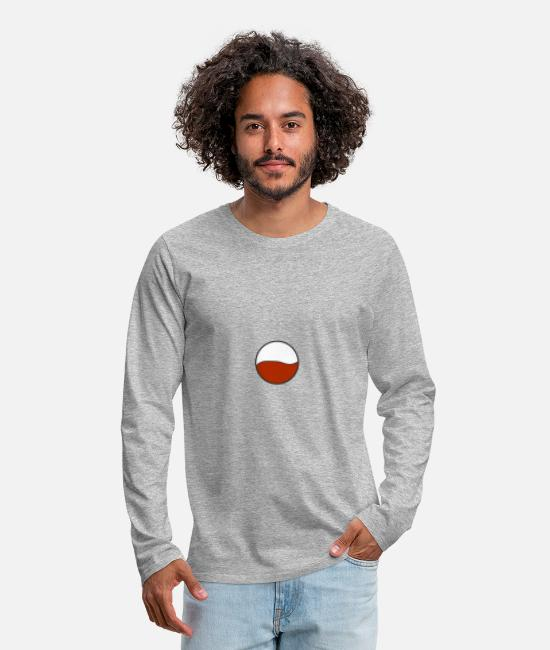 Polish Long-Sleeved Shirts - Poland - Men's Premium Longsleeve Shirt heather grey