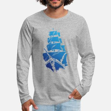 Blue ship - Men's Premium Longsleeve Shirt