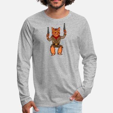 Wild West Wild west cat - Men's Premium Longsleeve Shirt