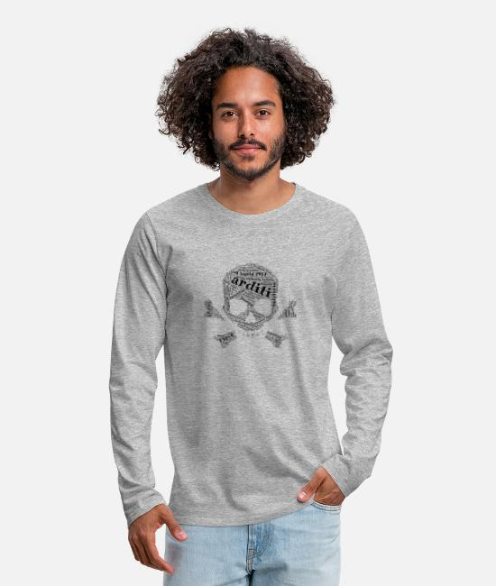 Turin Long-Sleeved Shirts - 1915 - 1918 Italia - Men's Premium Longsleeve Shirt heather grey