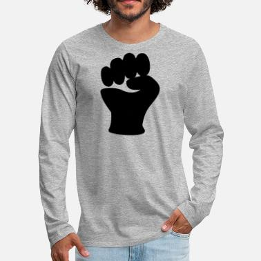 Clip Art Fist Power Hand Clip Art - Men's Premium Longsleeve Shirt