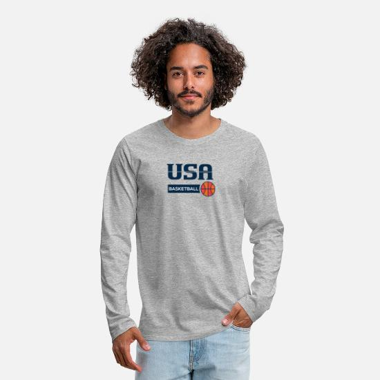 Grand Slam Long sleeve shirts - Grand Slam Tournament Basketball - Men's Premium Longsleeve Shirt heather grey