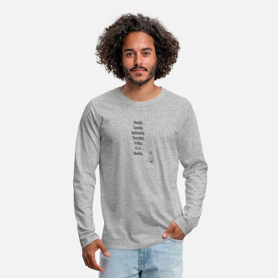Rest Long Sleeve Shirts - wise mama at the weekend - Men's Premium Longsleeve Shirt heather grey
