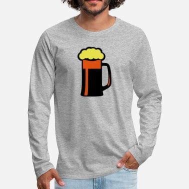 Foam beer glass foam - Men's Premium Longsleeve Shirt