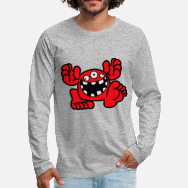 Proud To Be A Monster Cartoon by Cheerful Madness! - Men's Premium Longsleeve Shirt