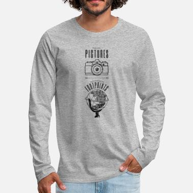Genieten Take only pictures, leave nothing but footprints - Mannen premium longsleeve