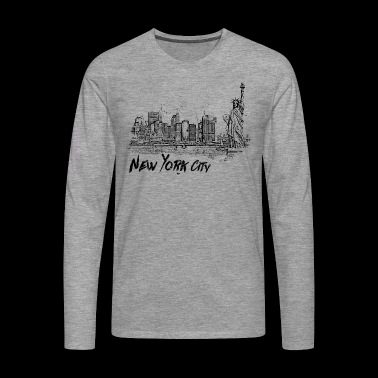 New York City - Männer Premium Langarmshirt