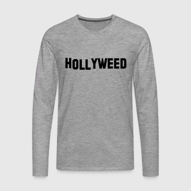 Hollyweed Black - Mannen Premium shirt met lange mouwen