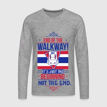 Bangkok Airport End of the Walkway - Männer Premium Langarmshirt