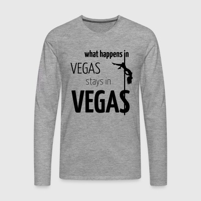 what happens in vegas... - Männer Premium Langarmshirt