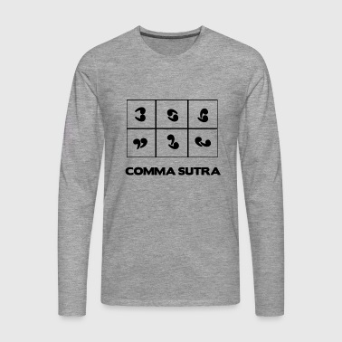 COMMA SUTRA - Men's Premium Longsleeve Shirt