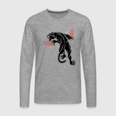 BLACK ANIMAL JUNGLE WILD CAT - Men's Premium Longsleeve Shirt