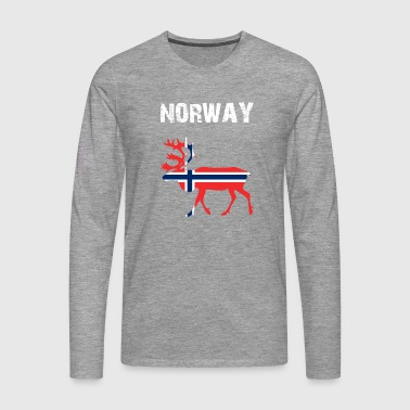 Nation-Design Norway Reindeer - Men's Premium Longsleeve Shirt