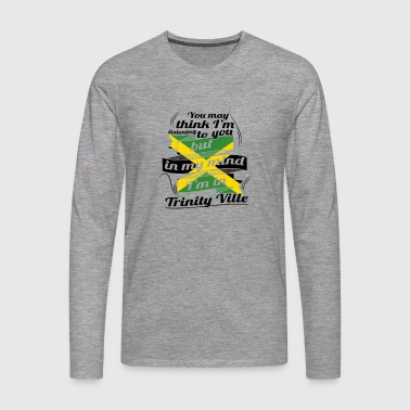 HOLIDAY JAMESICA ROOTS TRAVEL IN Jamaica Trinity - Men's Premium Longsleeve Shirt