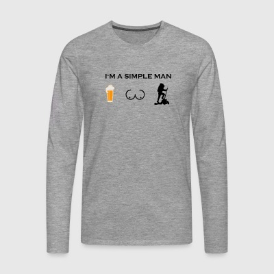 Simple man boobs beer beer tits hike hike hik - Men's Premium Longsleeve Shirt
