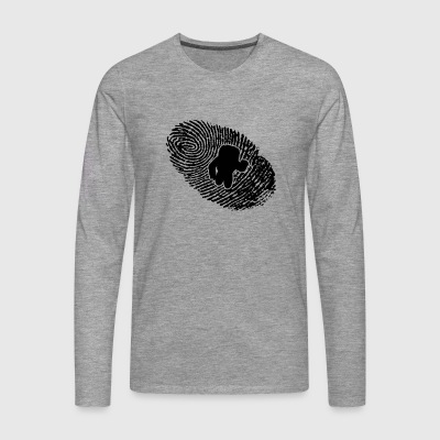 fingerprint dns dna gift astronaut - Men's Premium Longsleeve Shirt