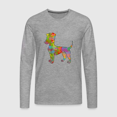 Manchester Terrier Multicolored - Men's Premium Longsleeve Shirt