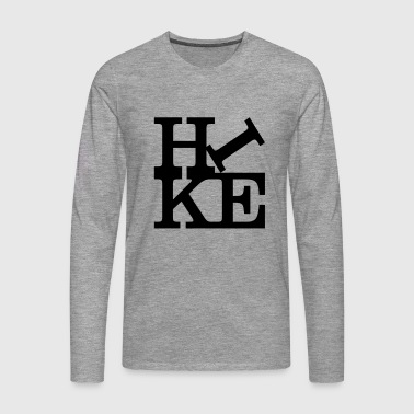 hike Homage to Robert Indiana black inside - Men's Premium Longsleeve Shirt