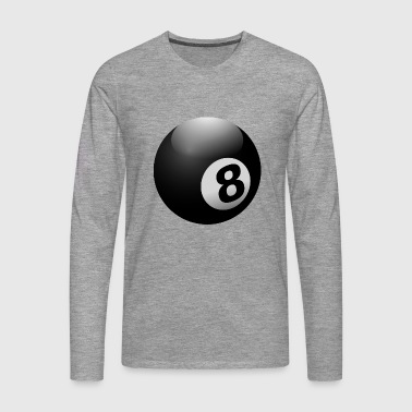 Billiard Ball 8 Ball Black - Men's Premium Longsleeve Shirt