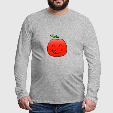 Apple fruit Healthy laughing kids gift idea - Men's Premium Longsleeve Shirt