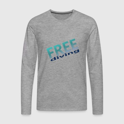 freediving - Premium langermet T-skjorte for menn